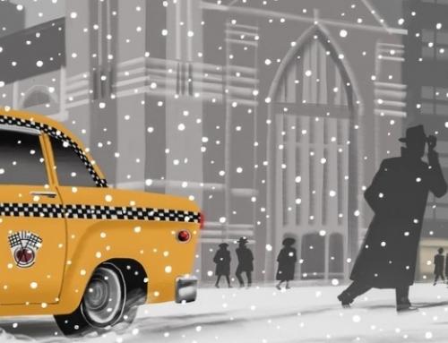 """John Updike: """"Snowing in Greenwich Village"""""""