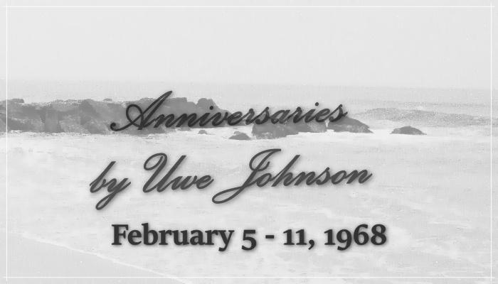 Anniversaries Readalong: February 5 – 11, 1968