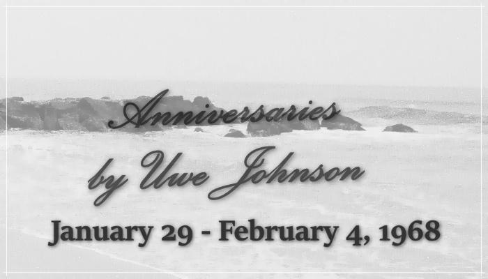 Anniversaries Readalong: January 29 – February 4, 1968