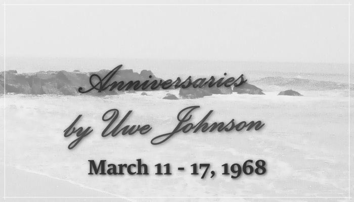 Anniversaries Readalong: March 11 – 17, 1968