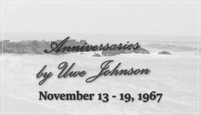 Anniversaries Readalong: November 13 – 19, 1967