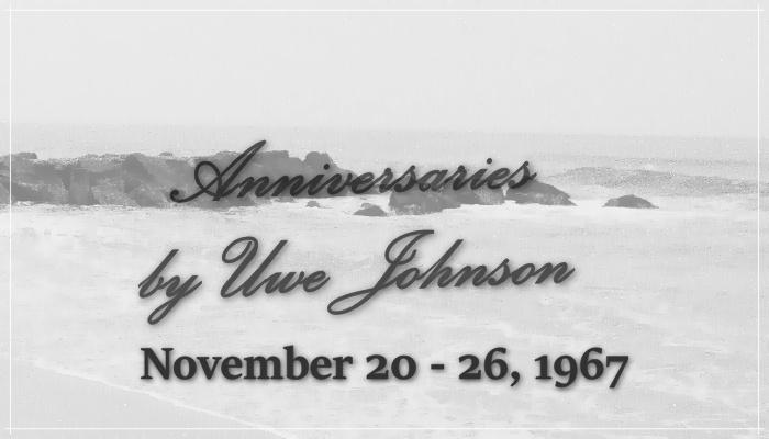 Anniversaries Readalong: November 20 – 26, 1967