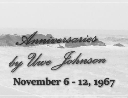 Anniversaries Readalong: November 6 – 12, 1967