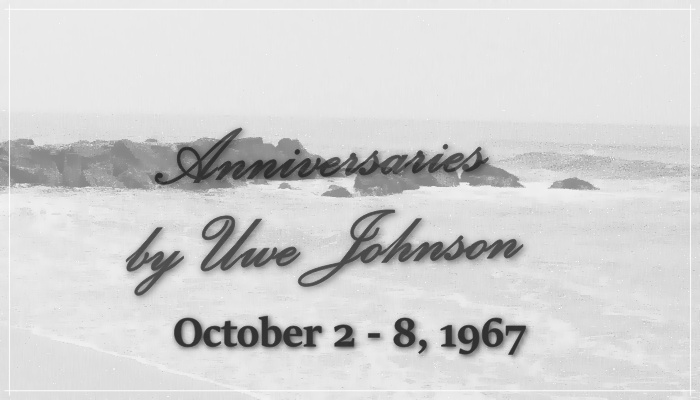 Anniversaries Readalong: October 2 – 8, 1967