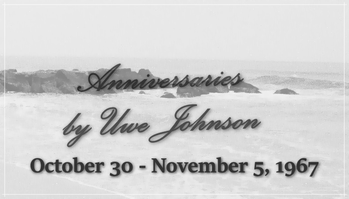 Anniversaries Readalong: October 30 – November 5, 1967