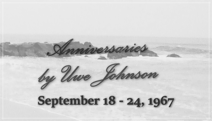 Anniversaries Readalong: September 18 – 24, 1967